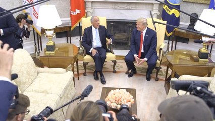 President Trump Greets The President of Portugal