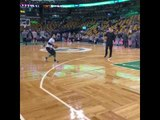 Shane Larkin getting shots up prior to Celtics v Hawks