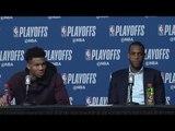 Giannis Antetokounmpo and Khris Middleton speak about Bucks loss