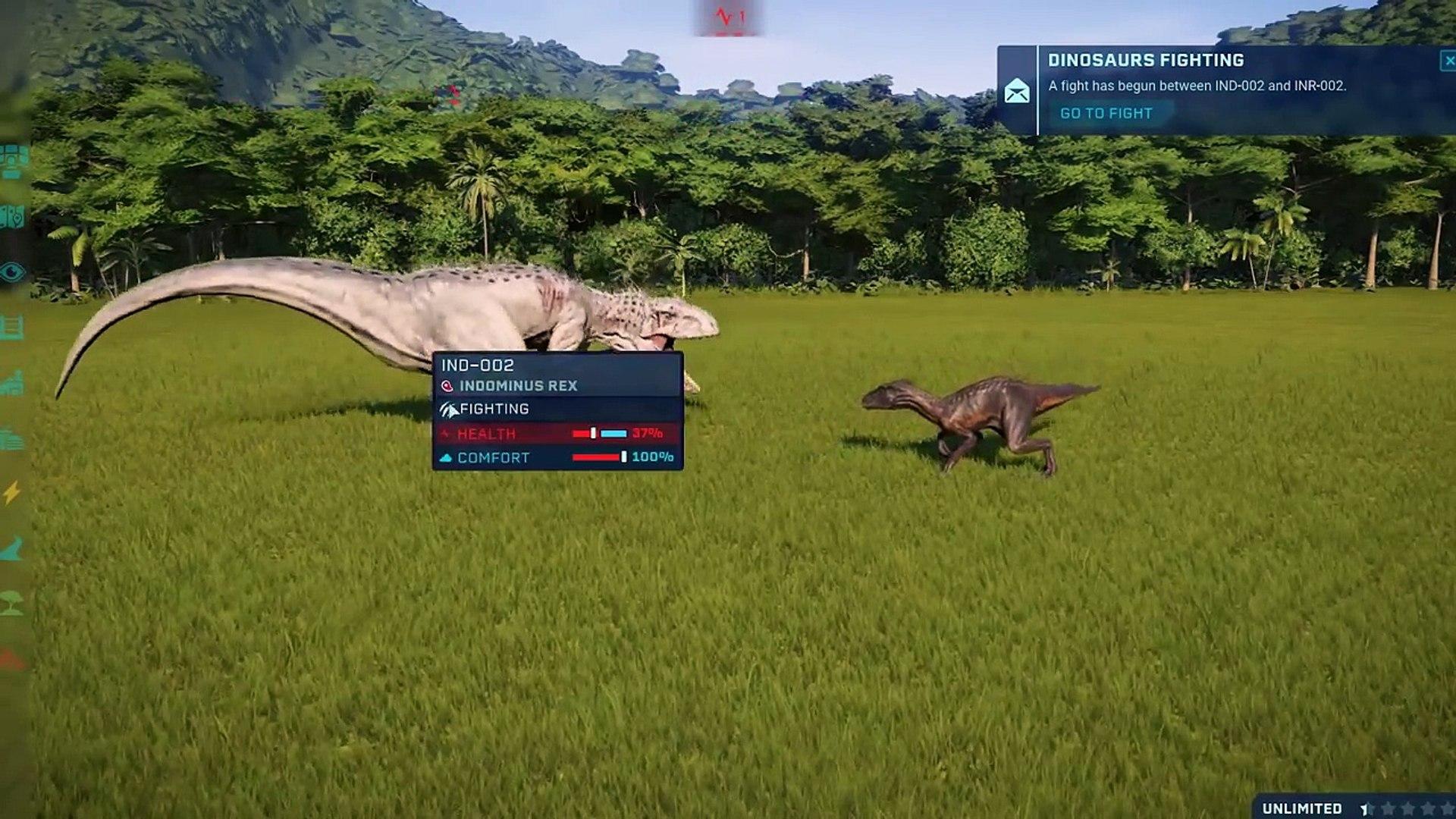 Indoraptor VS Indominus Rex - Jurassic World Evolution ( 720 X 1280 )