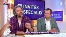 C à vous : échange tendu entre Aymeric Caron et Patrick Cohen sur la viande (vidéo)