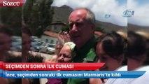 Muharrem İnce, seçimden sonraki ilk cumasını Marmaris'te kıldı
