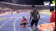 KING JAMES IS BACK!Kirani Zeno James return to competition with a Meet Record of 44.35 at the Racers Grand Prix in Kingston tonight. Bralon Taplin equals his S