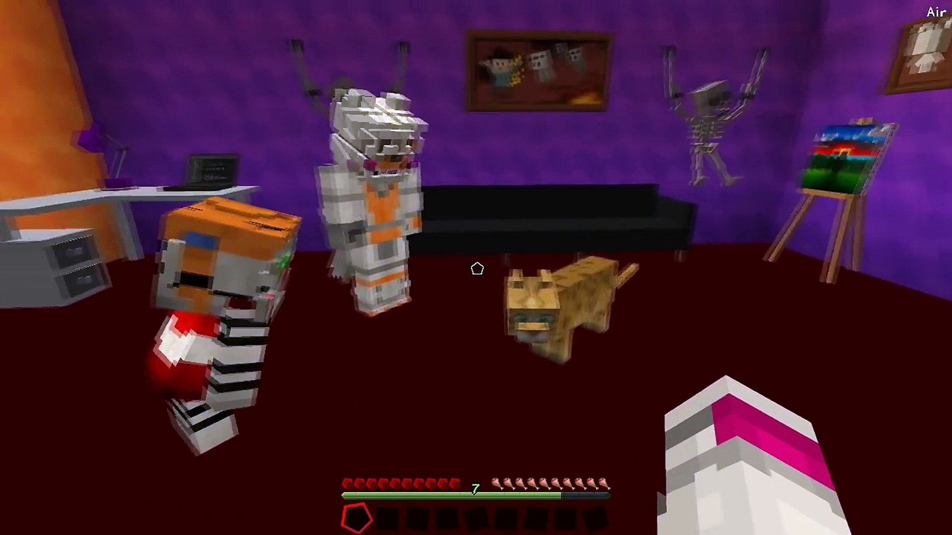 Minecraft Fnaf: Lolbit Finds A Lost Kitty (Minecraft Roleplay)