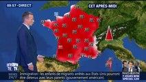 Il va faire très très chaud ce week-end avec un pic de 36 C° à Bordeaux cet après-midi et de 37 C° à Lyon et Grenoble dimanche après-midi