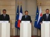 Déclarations à la presse avec Andrej Babis, Premier Ministre de la République tchèque et Peter Pellegrini, Premier Ministre de la République slovaque.