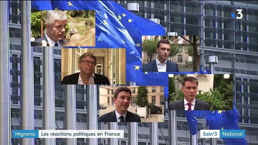 Migrants : les réactions politiques en France