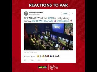 Amazing twitter reactions to VAR!