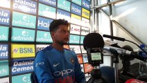 Man of the Match for the first T20I, Kuldeep Yadav addresses the media at the post match presser at Dublin.#IREvIND
