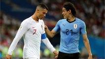 Einson Cavani Heads Uruguay Into Halftime Lead Against Portugal