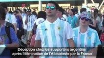 Les supporters de l'Argentine abattus après l'élimination