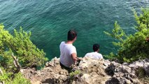 cliff jump in  malapascua island, CEBU