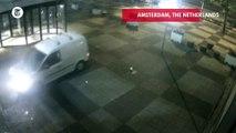 Van Slams Into Newspaper's Headquarters, Driver Then Lights It On Fire