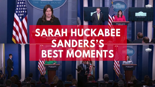 Sarah Huckabee Sanders' Best Moments As White House Press Secretary