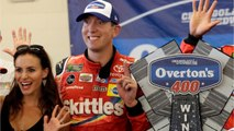 Chicagoland NASCAR: Kyle Busch wins after last-lap Larson contact