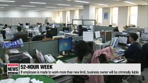 South Korea kicks off 52-hour maximum workweek
