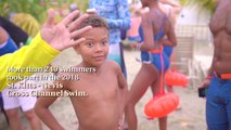 """On Sunday, March 25th, over 240 swimmers participated in the 2018 Nevis to St. Kitts Cross Channel Swim, crossing """"The Narrows"""" from Oualie Beach on Nevis to th"""