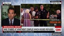 Un homme a fait irruption dans une résidence où se déroulait l'anniversaire d'une enfant de trois ans et a blessé 9 personnes à coups de couteau