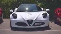 2018 Alfa Romeo 4C meets Giulia & Stelvio at the 4C Passion Meeting in Interlaken