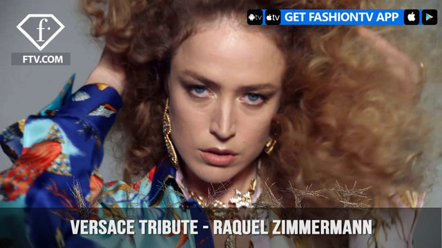 Raquel Zimmermann In Versace Tribute Collection Versace Tresor   FashionTV   FTV