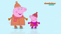Peppa Pig | Le patin à glace | NICKELODEON JUNIOR