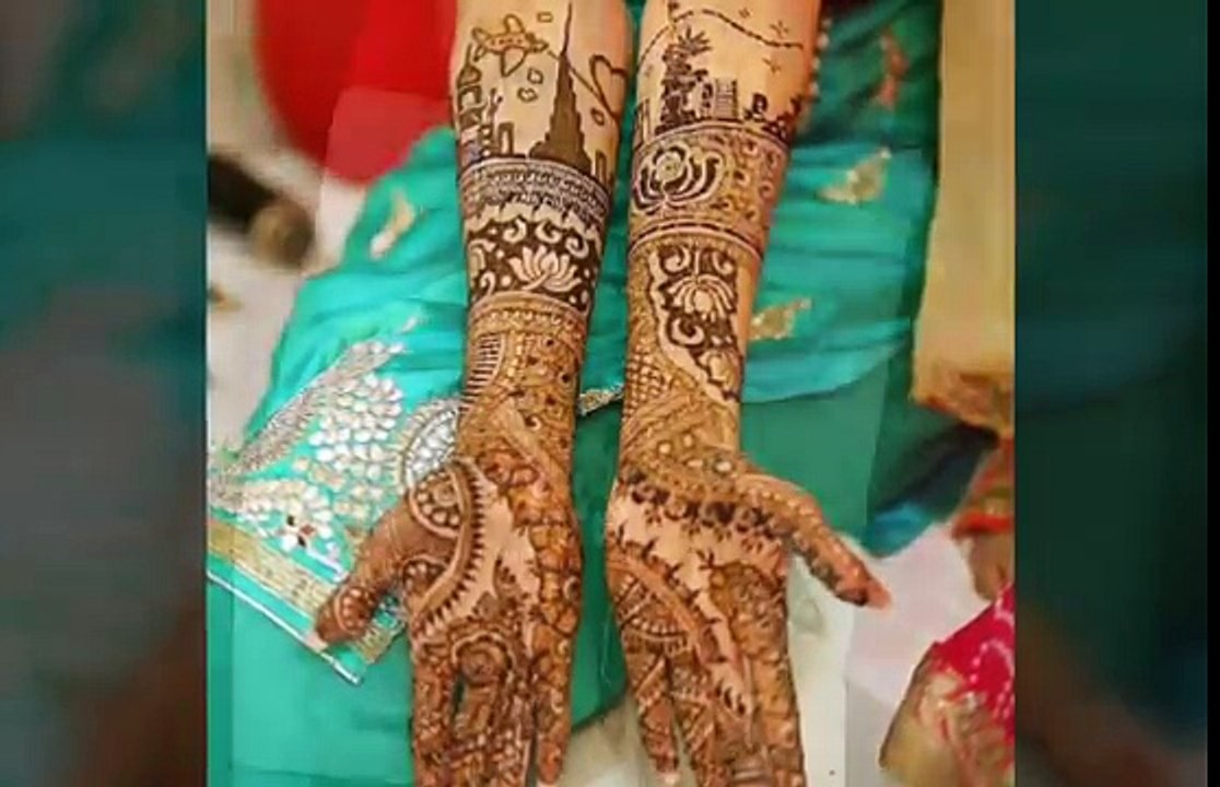 Latest Bridal Mehndi Designs For Back Hands Full Hands Bridal Mehndi Designs Indian Wedding 5 Video Dailymotion