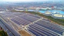 Altı Otopark Üstü Güneş Enerjisi Tarlası...güneş Enerji Santrali Havadan Görüntülendi