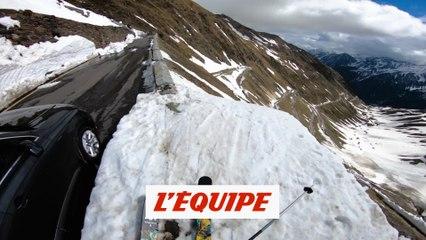 Mayr et Eder aménagent un parc hallucinant au col du Stelvio - Adrénaline - Ski freestyle