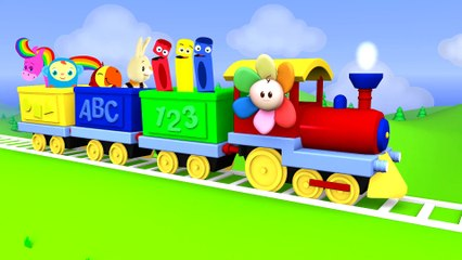 Learn Color vehicles for Kids with Trains | Goo Goo Baby Cartoon Train Toy | Educational | BabyFirst