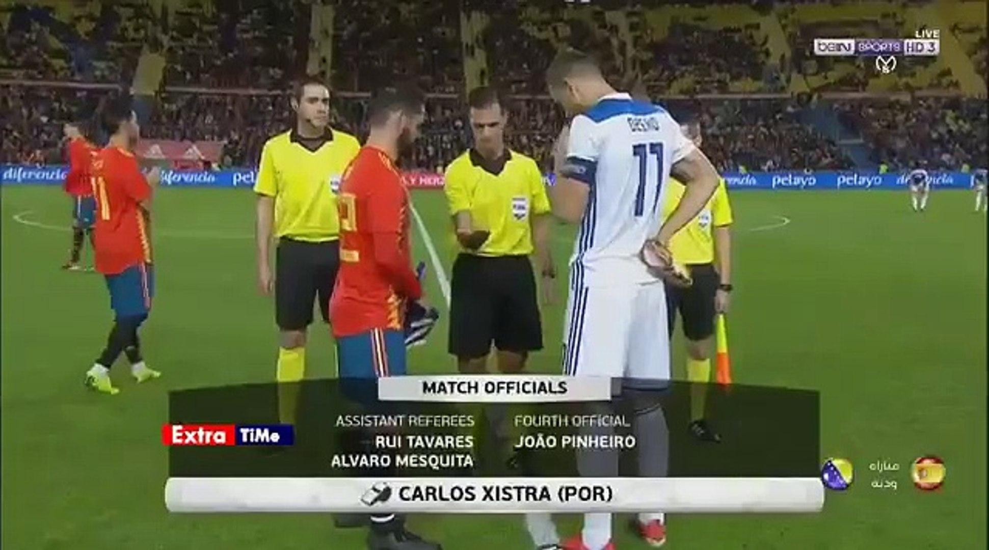 ملخص مباراة اسبانيا و البوسنة 0-1-تألق ايسكو-مباراة مجنوونة