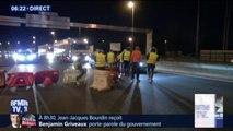 Gilets jaunes: blocage du pont François Mitterrand à Bordeaux