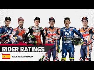 Driver Ratings - Valencia MotoGP