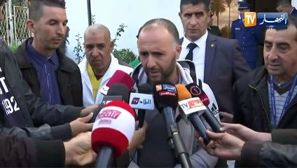 Déclarations de Belmadi et Bounedjah à l'aéroport d'Alger