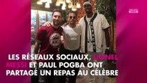 Paul Pogba et Lionel Messi se régalent à Dubaï avec le célèbre boucher Salt Bae