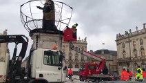 Nancy : installation des décors place Stanislas