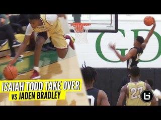 Future NBA Pro Isaiah Todd DRAMATIC DUNK to Finish vs Jaden Bradley Looking Like the FUTURE...