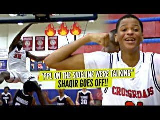 """""""Ppl On The Sideline Were Talking"""" So Shaqir O'Neal Goes CRAZY w/ 9 Threes! CRAZY POSTER!!"""