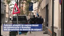Policiers attaqués au couteau devant un commissariat à Bruxelles: une perquisition au domicile du suspect