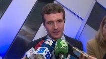 Casado valora el suspenso de Bruselas a los Presupuestos de Sánchez.