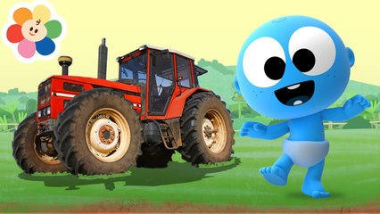 Vehiculos de la Granja para Niños | Los Camiones, Tractor, y Mas | Aprende con Goo Goo | BabyFirst