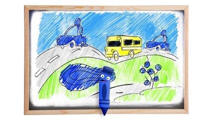 Aprenda As Cores Com O Carrinho Azul | BabyFirst TV Brasil
