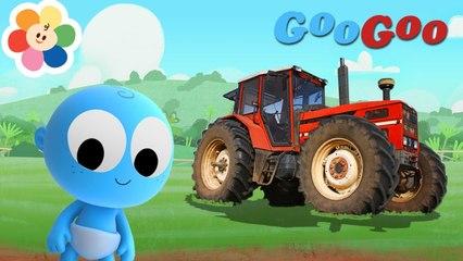 Veículos em Cores Para Crianças | Tractores e Caminhões Com Goo Goo | Aprendendo Com BabyFirst