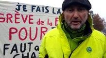 En grève de la faim depuis lundi, Gepy va partir à l'Elysée à pied