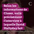 INFO CLOSER. Interview de David Hallyday sur TF1 : cette petite phrase très, très lourde de sous-entendus sur les volontés de Johnny
