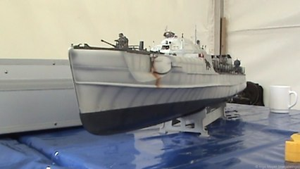 Modellschiffe Flensburger Dampfrundum 2017, Schnellboot, 2x Schlepper, Polizeiboot, Taucherbasischiff, Kümo