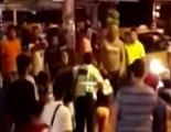 Agente de la CTE y y un conductor se afrentaron a golpes en una de las calles de la provincia de Manabí
