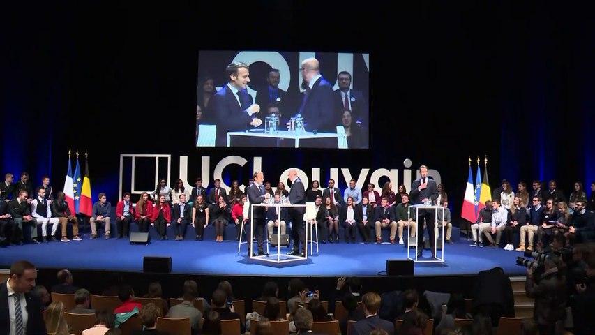 Conférence-débat à l'Université de Louvain-la-Neuve, en Belgique
