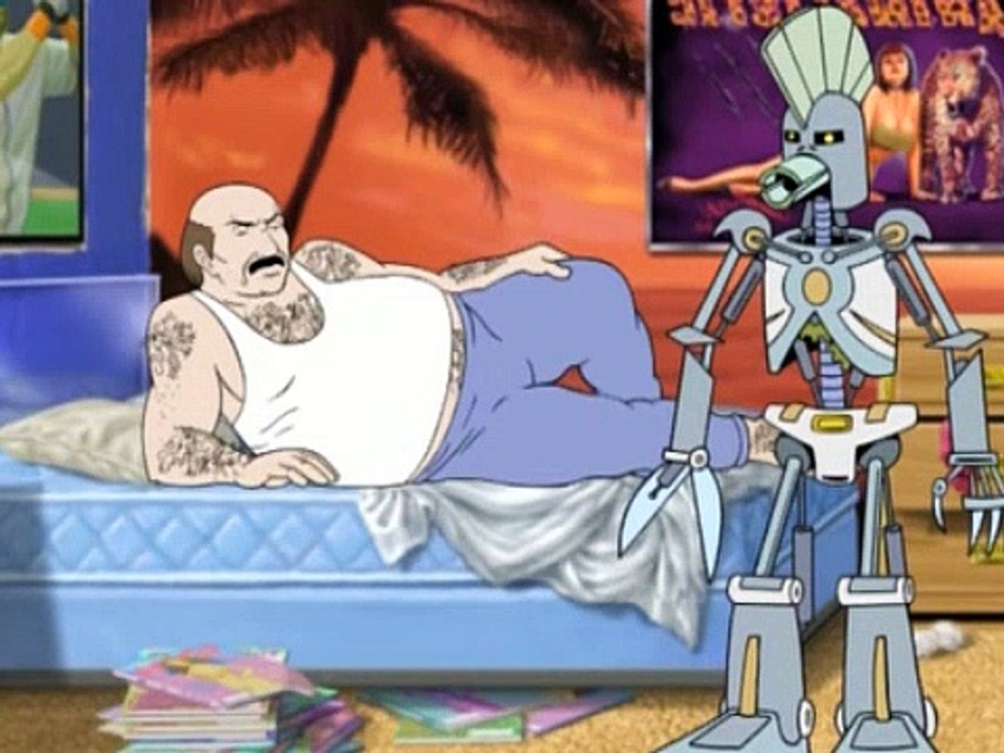 Cybernetic Ghost Of Christmas Past From The Future.Aqua Teen Hunger Force Season 1 Episode 18 Cybernetic Ghost Of Christmas Past From The Future