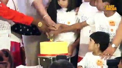 Aishwarya Rai Daughter Aaradhya CUTE Moments @ 7th Birthday Celebration With NGO kid