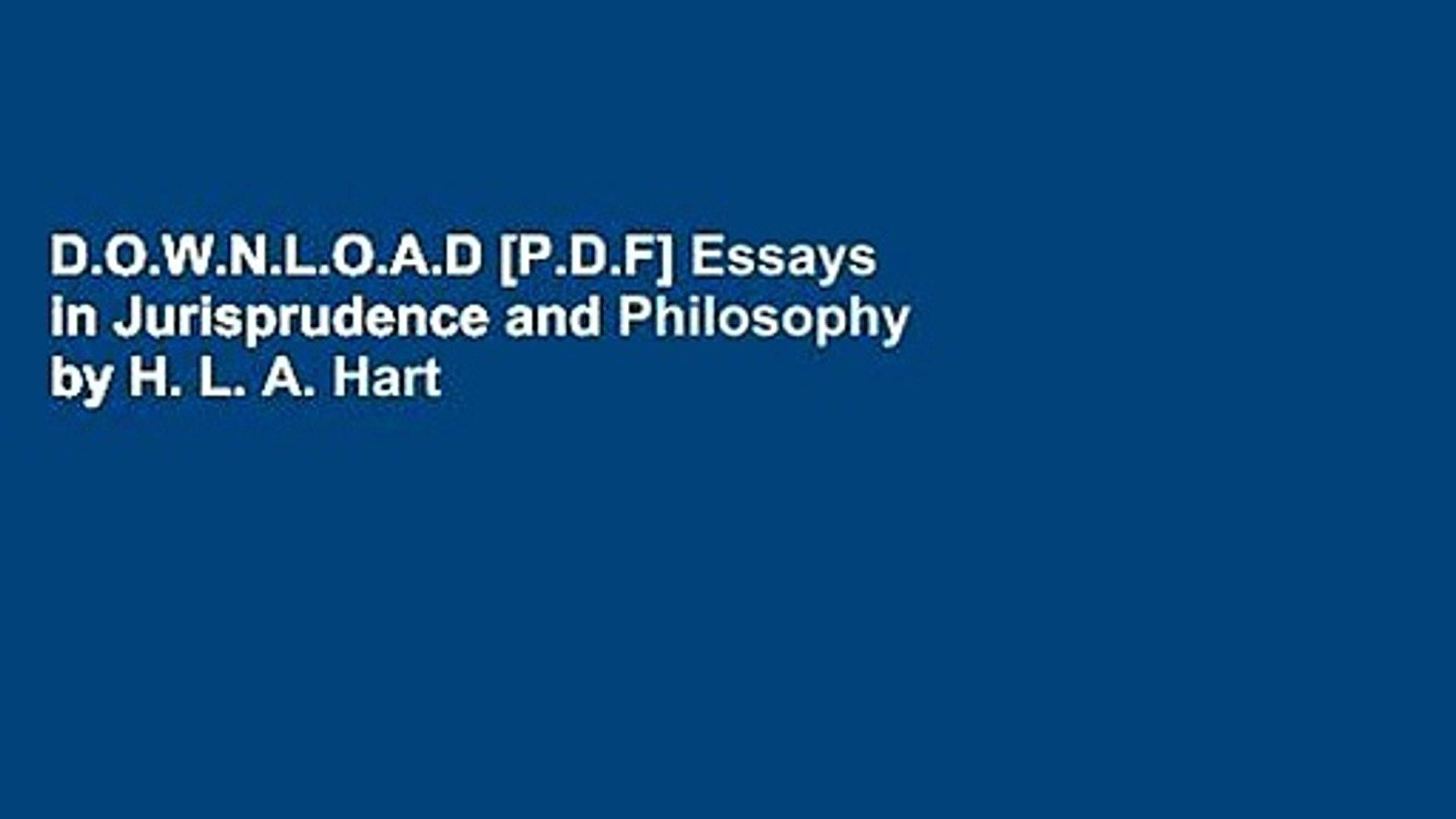 hart h essays in jurisprudence and philosophy pdf